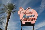 Rancho Super CarWash sign in Rancho Mirage