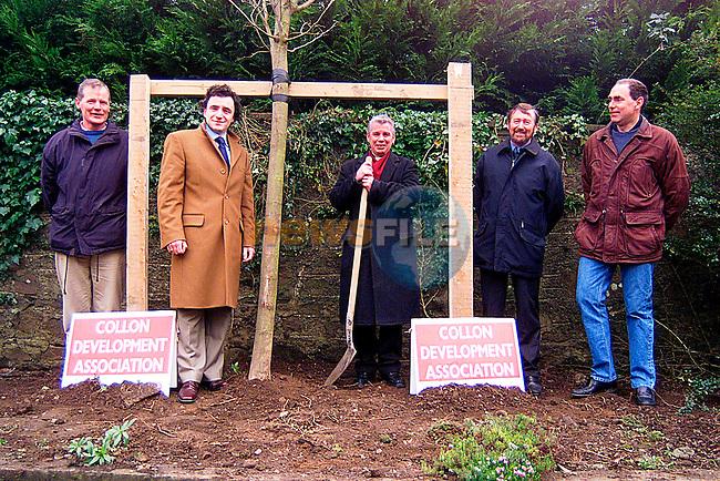 John Joe O Rielly, Enda Sherlock, Fr.Treanor,Matrin Weldon and Tom Condon Planting A Elm Tree in Collon. ..Pic Tony Campbell/Newsfile