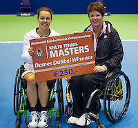 21-12-13,Netherlands, Rotterdam,  Topsportcentrum, Tennis Masters, Final doubles lady's wheelchair:  winners :  Marjolein Buis and Sharon Walraven(R)<br /> Photo: Henk Koster