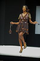 Hapsatou Sy portant la robe de Cameron Kham et Jean Paul Hevin au Salon du Chocolat coiffure Franck Provost maquillage Make Up For Ever Paris 2017 - SALON DU CHOCOLAT 2017, 27/10/2017, PARIS, FRANCE