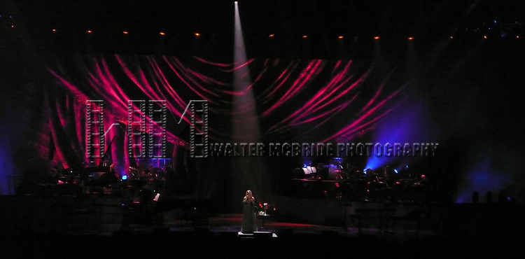 "Barbra Streisand performing ""Barbra: The Music, The Mem'ries, The Magic""— The Encore at Barclays Center  Brooklyn on May 6, 2017 in New York City."