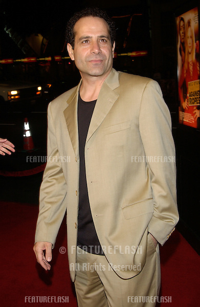 Actor TONY SHALHOUB at the world premiere in Hollywood of his new movie Against the Ropes..February 11, 2004