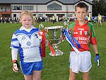 Hannah McGrory and Matthew Weir pictured with the trophy at the cup final. Photo: Colin Bell/pressphotos.ie