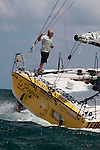 Brad Van Liew Prepares Le Pingouin for the Velux 5 Oceans Around the world race 2010
