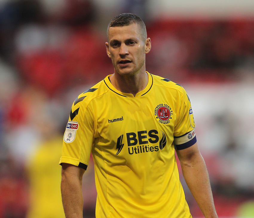 Fleetwood Town's Paul Coutts<br /> <br /> Photographer Mick Walker/CameraSport<br /> <br /> The Carabao Cup First Round - Nottingham Forest v Fleetwood Town - Tuesday 13th August 2019 - The City Ground - Nottingham<br />  <br /> World Copyright © 2019 CameraSport. All rights reserved. 43 Linden Ave. Countesthorpe. Leicester. England. LE8 5PG - Tel: +44 (0) 116 277 4147 - admin@camerasport.com - www.camerasport.com