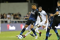 San Jose, CA - Saturday August 25, 2018: Danny Hoesen during a Major League Soccer (MLS) match between the San Jose Earthquakes and Vancouver Whitecaps FC at Avaya Stadium.