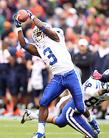 Duke wide receiver Jamison Crowder (3) Duke defeated Virginia 35-22 at Scott Stadium in Charlottesville, VA. . Photo/Andrew Shurtleff