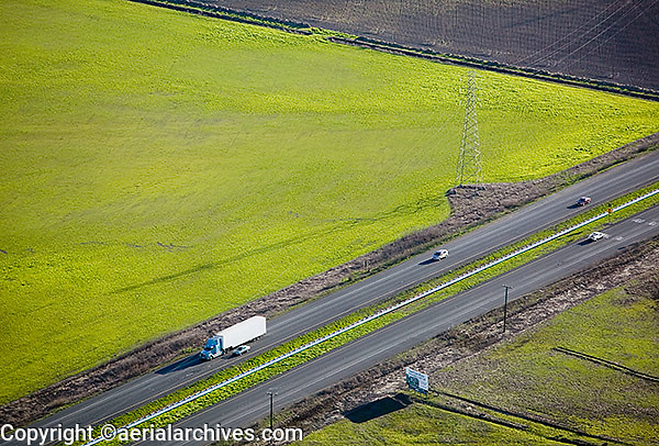 aerial photograph highway 37, Napa County, California