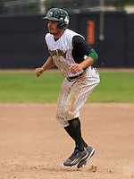 GREEN BAY - June 2015: Green Bay Bullfrogs infielder Mikey Duarte (6) during a Northwoods League game against the Kenosha Kingfish on June 21st, 2015 at Joannes Park in Green Bay, Wisconsin. Green Bay defeated Kenosha 10-7. (Brad Krause/Krause Sports Photography)