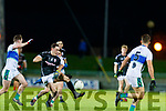 Paudie Clifford, East Kerry in action against Mikey Geaney, Dingle during the Quarter finals of the Kerry Senior GAA Football Championship at Austin Stack Park on Saturday night.