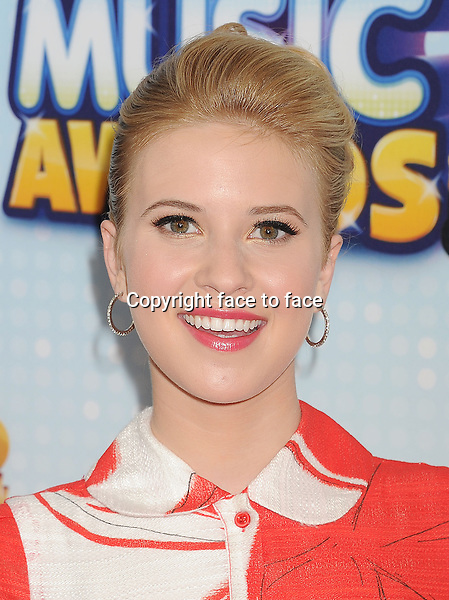 Actress Caroline Sunshine arriving at the 2013 Radio Disney Music Awards at Nokia Theatre L.A. Live on April 27, 2013 in Los Angeles, California., ..Credit: Mayer/face to face - No Rights for USA and Canada -
