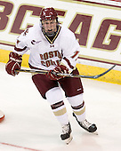 Pat Mullane (BC - 11) - The Boston College Eagles defeated the visiting University of Toronto Varsity Blues 8-0 in an exhibition game on Sunday afternoon, October 3, 2010, at Conte Forum in Chestnut Hill, MA.