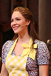 "Katharine McPhee during her curtain call bows as she returns to ""Waitress"" at the Brooks Atkinson Theatre on November 25, 2019 in New York City."