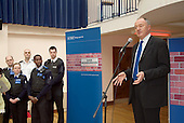 London Mayor Ken Livingstone speaks at the launch of the Metropolitan Police Service's Safer Neighbourhoods team for Queen's Park at Acton Housing Association's Beethoven Centre.