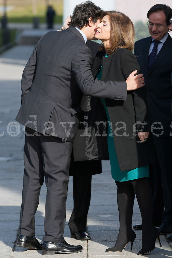 Mariano Rajoy goes to donation Varez Fisa at Prado Museum