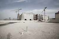 Qatar - Doha - Sunni mosque under construction. It will be the lasrgest mosque in Qatar, 10.000 people