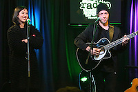 BALA CYNWYD, PA- NOVEMBER 14 :  The Naked And Famous visit Radio 104.5 performance studio in Bala Cynwyd, Pa on November 14, 2016  photo credit Star Shooter/MediaPunch