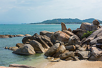Thailand, Koh Samui Island. Grandfather/grandmother rock formations and tourist attraction. This is the grandfather rock shaped like a penis.