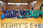 Skellig Stars hosted an Inter-Club Day for all Special Olympic Clubs in Kerry on Saturday in Colaiste na Sceilge, Cahersiveen with the North Kerry Eagles, Kerry Stars and Tralee Together in attendance pictured here athletes, trainers and volunteers.  All Special Olympic Clubs from Kerry are receiving an Award from the Kerry Association in Dublin on Friday 2nd March in recognition of their Volunteer Work.