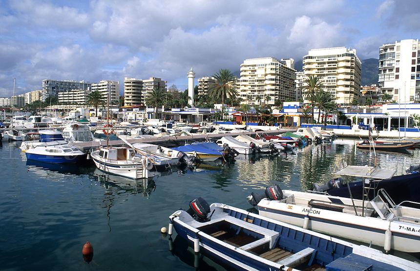 Southern Coast Costa del Sol marina. City of Marbella, Spain