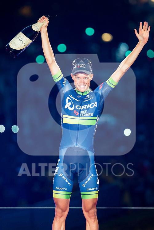 Magnus Cort Nielsen winner of the stage of La Vuelta a España 2016 in Madrid. September 11, Spain. 2016. (ALTERPHOTOS/BorjaB.Hojas)