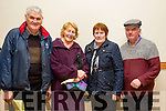 "Attending The Group Theatre Tralee production of "" A Queen's Speech "" by Mike O'Halloran in Abbeydorney Community Centre on Sunday night  were Tom McElligott, Nancy O'Connell, helen Stack and Sonny Egan."