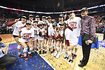 KANSAS CITY, MO - DECEMBER 16: University of Nebraska players celebrate after winning the Division I Women's Volleyball Championship held at Sprint Center on December 16, 2017 in Kansas City, Missouri. (Photo by Jamie Schwaberow/NCAA Photos via Getty Images)