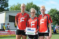 KAATSEN: ARUM: 28-07-2013,  Hoofdklasse wedstrijd, Fenna Zeinstra, Lisette Wagenaar, Leonie v/d Graaf, ©foto Martin de Jong