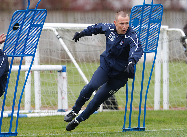 Kenny Miller bursts out of the turn