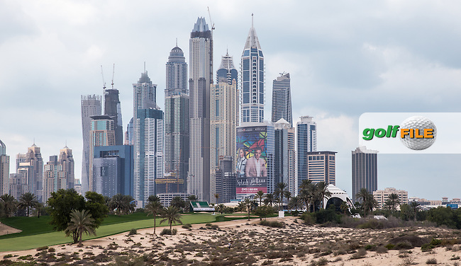 8th tee with a view ahead of the 2016 Omega Dubai Desert Classic played at the Emirates Golf Club, Dubai, United Arab Emirates.  30/01/2016. Picture: Golffile | David Lloyd<br /> <br /> All photos usage must carry mandatory copyright credit (&copy; Golffile | David Lloyd)