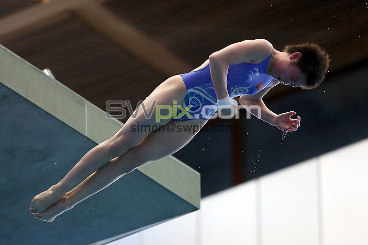 PICTURE BY ALEX WHITEHEAD/SWPIX.COM - Diving - FINA/Midea Diving World Series 2013 - Royal Commonwealth Pool, Edinburgh, Scotland - 21/04/13 - China's Si Yajie wins gold in the Women's 10m platform final.