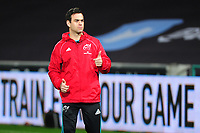 Head Coach Johann van Graan of Munster during the pre match warm up for the Guinness Pro14 Round 16 match between Ospreys and Munster Rugby at the Liberty Stadium in Swansea, Wales, UK. Friday 22 February 2019