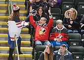 Dawson Creek, BC - Dec 14 2019: Game 11 Semifinal - Canada East vs USA at the 2019 World Junior A Championship at the ENCANA Event Centre in Dawson Creek, British Columbia, Canada. (Photo by Matthew Murnaghan/Hockey Canada)