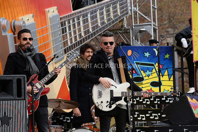 www.acepixs.com<br /> <br /> November 24 2016, New York City<br /> <br /> Diamante Electrico made an appearance at the 90th Annual Macy's Thanksgiving Day Parade on November 24, 2016 in New York City.<br /> <br /> By Line: Kristin Callahan/ACE Pictures<br /> <br /> <br /> ACE Pictures Inc<br /> Tel: 6467670430<br /> Email: info@acepixs.com<br /> www.acepixs.com