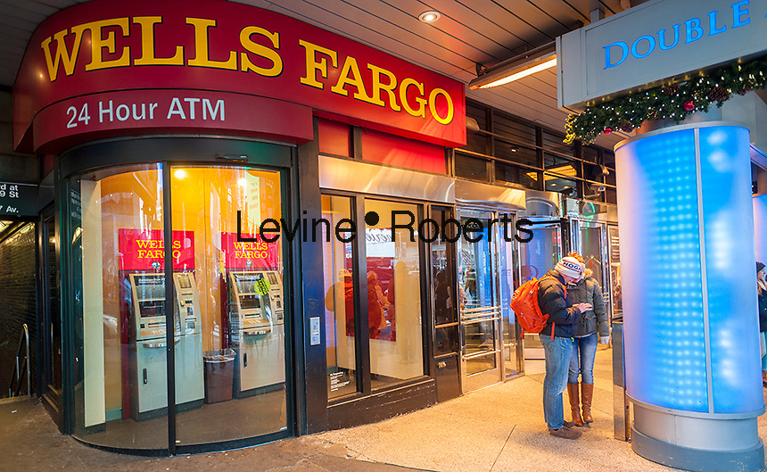 "An ATM only branch of Wells Fargo in New York on Tuesday, December 20, 2016. Fresh off of their sales tactics scandal Wells Fargo has failed the Federal Reserve's ""living will test"" and has been slapped with a fine. (© Richard B. Levine)"