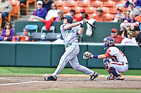 Notre Dame Fighting Irish catcher Ryan Lidge (36) swings at a pitch during a game against the Clemson Tigers during game one of a double headers at Doug Kingsmore Stadium March 14, 2015 in Clemson, South Carolina. The Tigers defeated the Fighting Irish 6-1. (Tony Farlow/Four Seam Images)