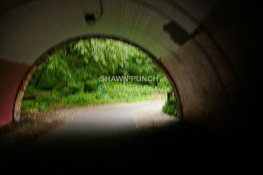 Inside the tunnel on the Hudson River Bike Greenway June 9th 2011.