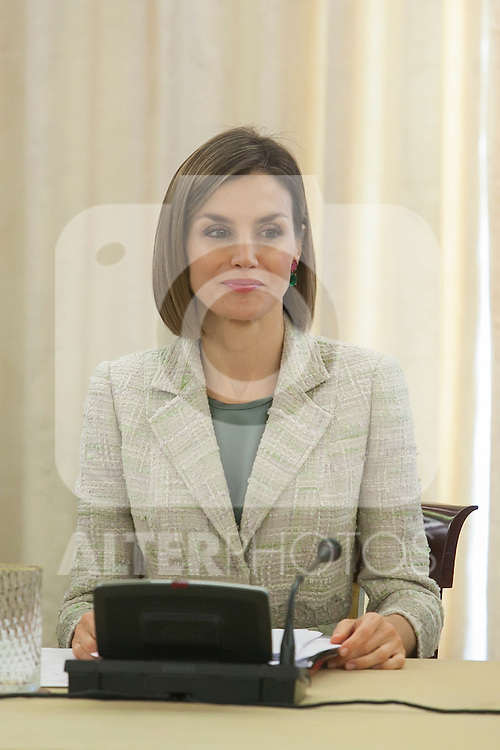 Queen Letizia of Spain during a meeting with `Help Against Drugs Foundation´ representatives at Zarzuela Palace in Madrid, Spain. September 29, 2015. (ALTERPHOTOS/Victor Blanco)