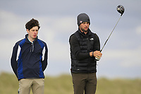 Redmond Lyons (USA) on the 9th tee during Round 2 of The East of Ireland Amateur Open Championship in Co. Louth Golf Club, Baltray on Sunday 2nd June 2019.<br /> <br /> Picture:  Thos Caffrey / www.golffile.ie<br /> <br /> All photos usage must carry mandatory copyright credit (© Golffile   Thos Caffrey)