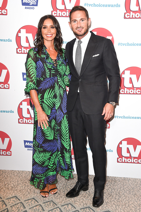 Chrisatine Bleakley and Frank Lampard<br /> arriving for the TV Choice Awards 2017 at The Dorchester Hotel, London. <br /> <br /> <br /> ©Ash Knotek  D3303  04/09/2017