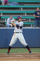 Taylor Jones (22) of the Gonzaga Bulldogs bats during a game against the Loyola Marymount Lions at Page Stadium on March 27, 2015 in Los Angeles, California. Loyola Marymount defeated Gonzaga 6-5.(Larry Goren/Four Seam Images)