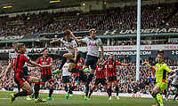 Son Heung-Min of Tottenham Hotspur shoots at goal during the Premier League match between Tottenham Hotspur and Bournemouth at White Hart Lane, London, England on 15 April 2017. Photo by Mark  Hawkins / PRiME Media Images.