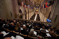 The State Funeral for former President George H.W. Bush at the National Cathedral, Wednesday, Dec. 5, 2018, in Washington. (AP Photo/Andrew Harnik, Pool)