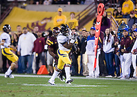 C.J. Anderson of California catches the ball and ran down the field for a touchdown during a game against Arizona State at Sun Devil Stadium in Tempe, California on November 25th, 2011  - California defeated Arizona State  47 - 38