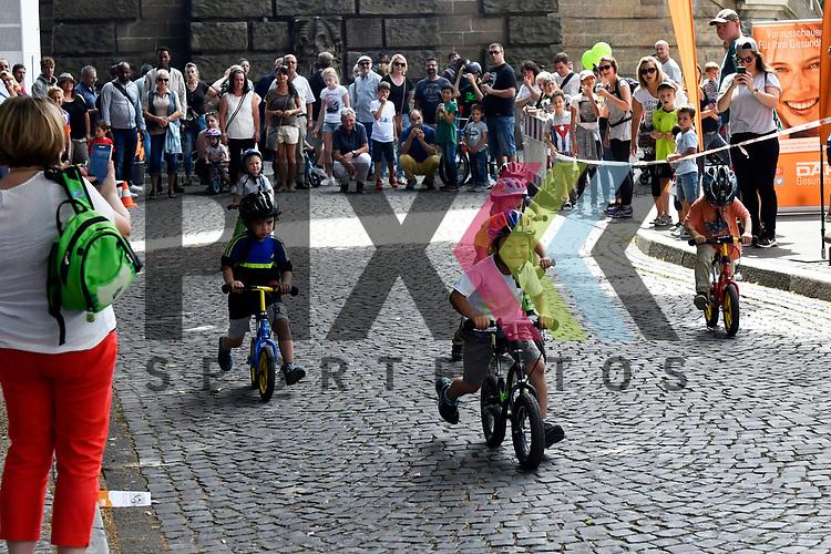 Mannheim 16.07.17 28. Sport &amp; Spiel am Wasserturm im Bild der Laufradwettbewerb der kleinsten.<br /> <br /> Foto &copy; Ruffler For editorial use only. (Bild ist honorarpflichtig - No Model Release!)