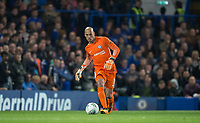 Goalkeeper Wilfredo Caballero of Chelsea during the Carabao Cup round of 16 match between Chelsea and Everton at Stamford Bridge, London, England on 25 October 2017. Photo by Andy Rowland.