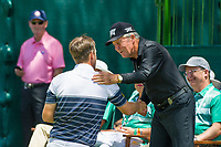 Bernd Wiesberger (AUT) and Gary Player (RSA) on the 1st tee during the first round at the Nedbank Golf Challenge hosted by Gary Player,  Gary Player country Club, Sun City, Rustenburg, South Africa. 14/11/2019 <br /> Picture: Golffile | Tyrone Winfield<br /> <br /> <br /> All photo usage must carry mandatory copyright credit (© Golffile | Tyrone Winfield)