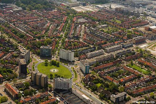 Luchtfotografie Leeuwarden Vrij-Baan - Europaplein