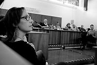 Roma, 16 Aprile 2019<br /> Ilaria Cucchi e Francesco Tedesco.<br /> Processo Cucchi Bis, il contro interrogatorio del Carabiniere indagato e accusatore degli altri imputati.