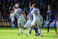 Ben Wilmot of Swansea City scores the opening goal during the Sky Bet Championship match between Swansea City and Cardiff City at the Liberty Stadium in Swansea, Wales, UK. Sunday 27 October 2019